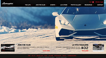 Lamborghini Club America National Site
